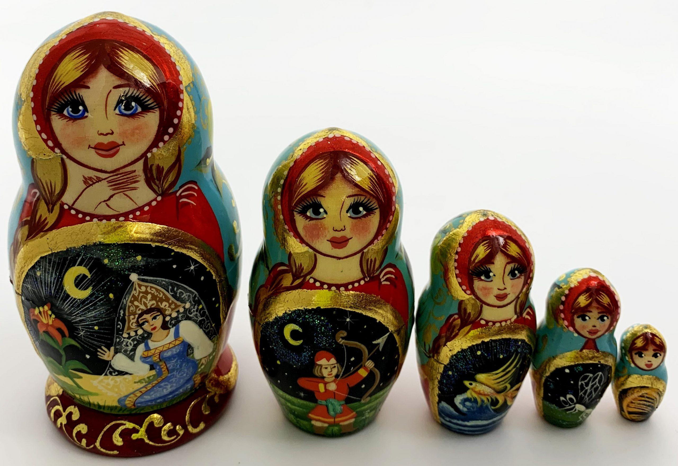 """Poupée Russe - Matriochka De Collection """" Conte De Fée Russe encequiconcerne Nom Poupée Russe"""