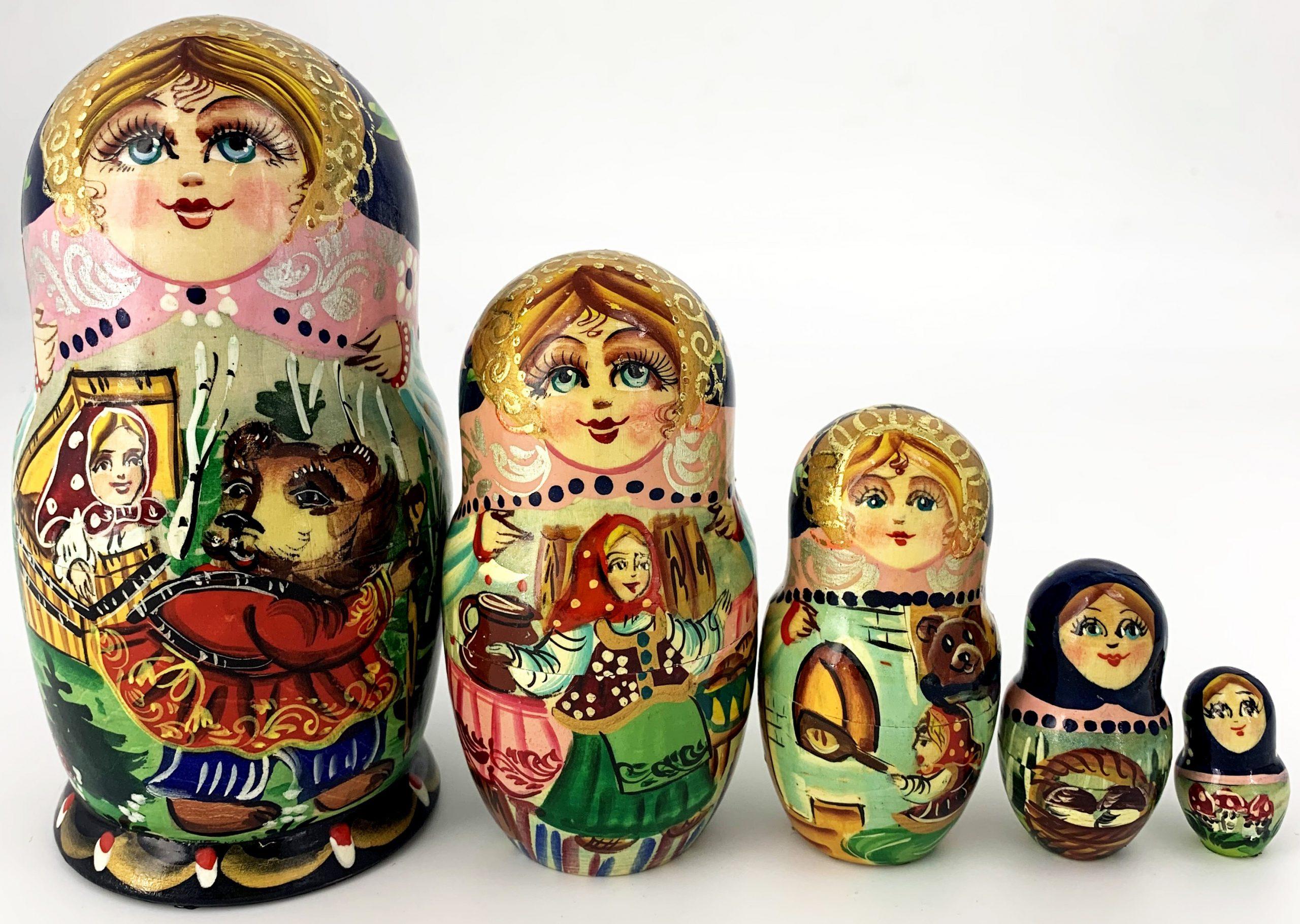 """Poupée Russe Matriochka De Collection """" Masha Et L'ours pour Nom Poupée Russe"""