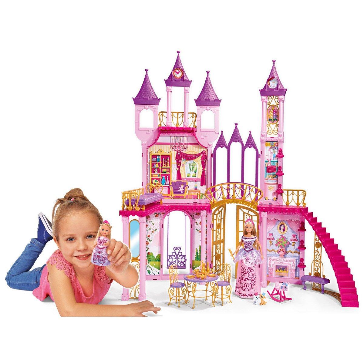 Poupées Steffi Avec Château De Princesse - Poupées avec Dessin Chateau Princesse