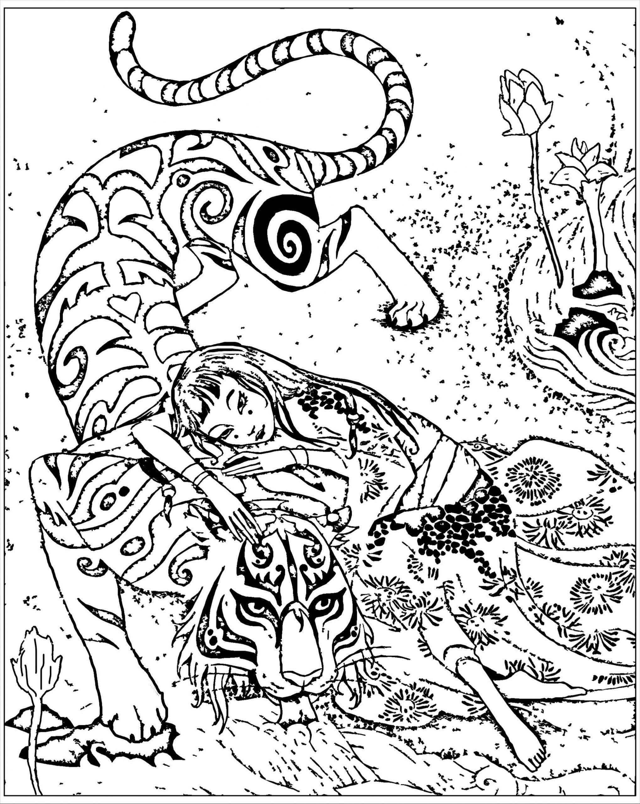 Pour Chine Inspire Livre Tigre Le Devoue De Qifeng Shen destiné Livre De Coloriage À Imprimer