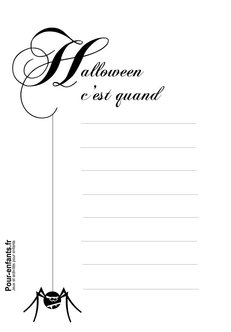 Pour Enfants 2017: Papier À Lettre Halloween À Imprimer dedans Papier A Lettre Enfant