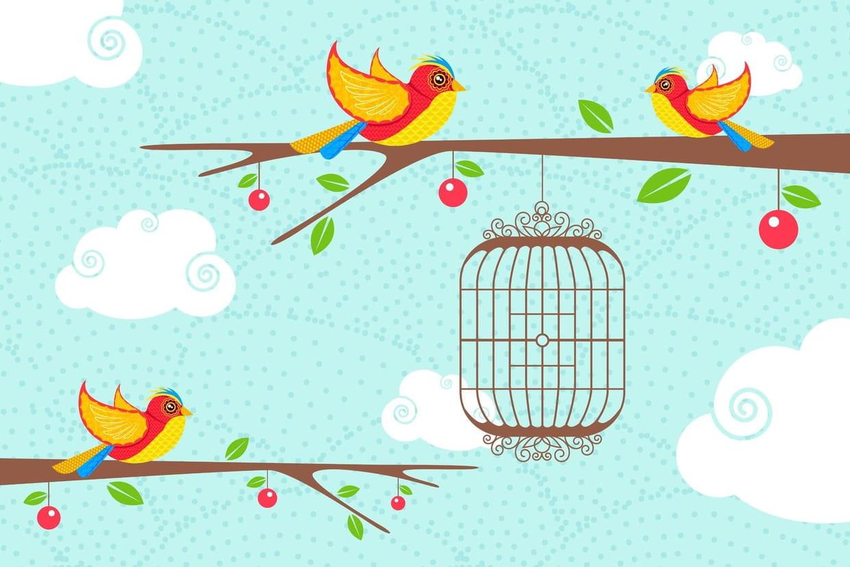Pour Faire Le Portrait D'un Oiseau, Chansons Pour Enfants intérieur Dessin De Cage D Oiseau