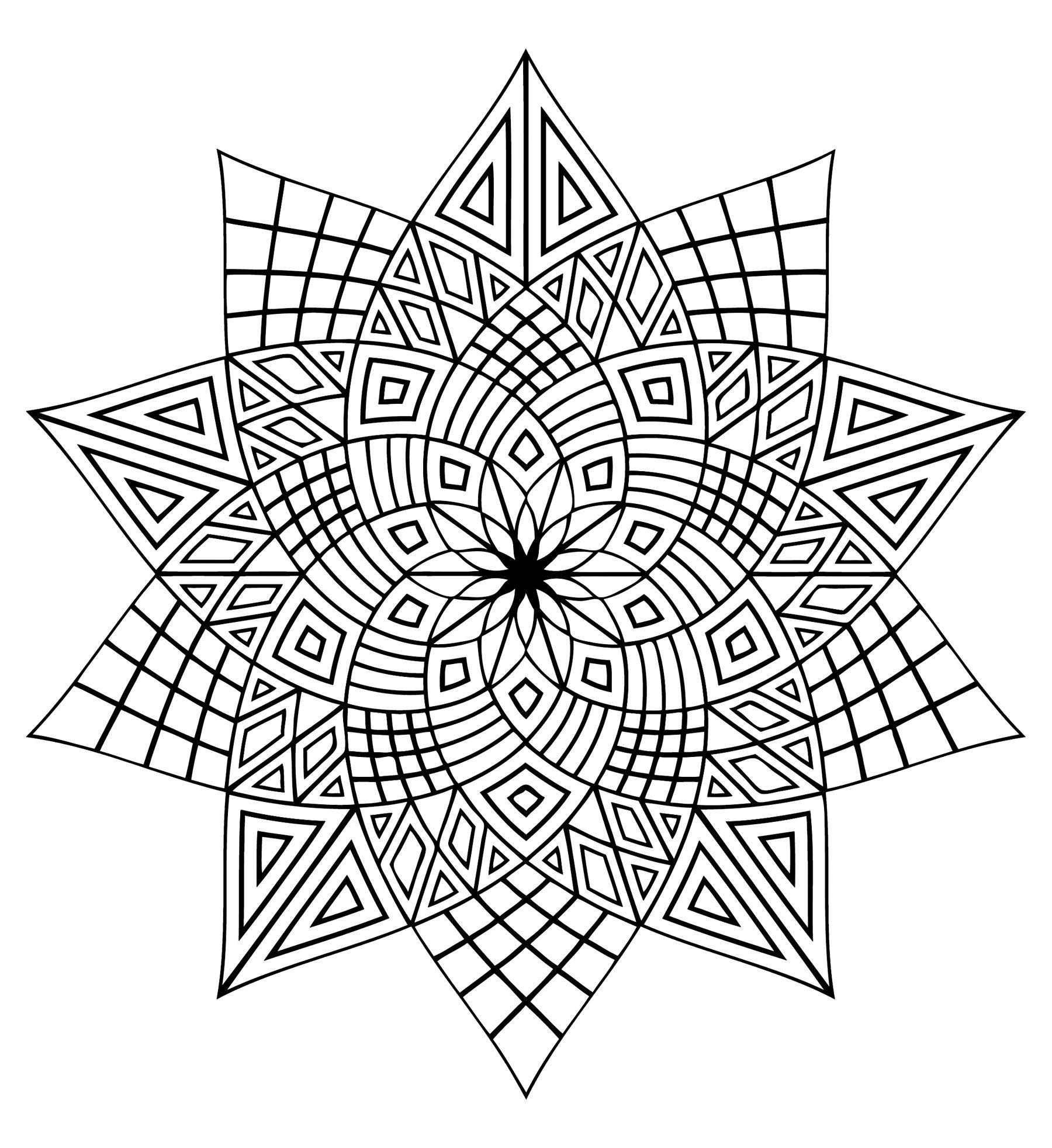 Pour Imprimer Ce Coloriage Gratuit «Coloriage-Mandala concernant Coloriage De Mandala Difficile A Imprimer