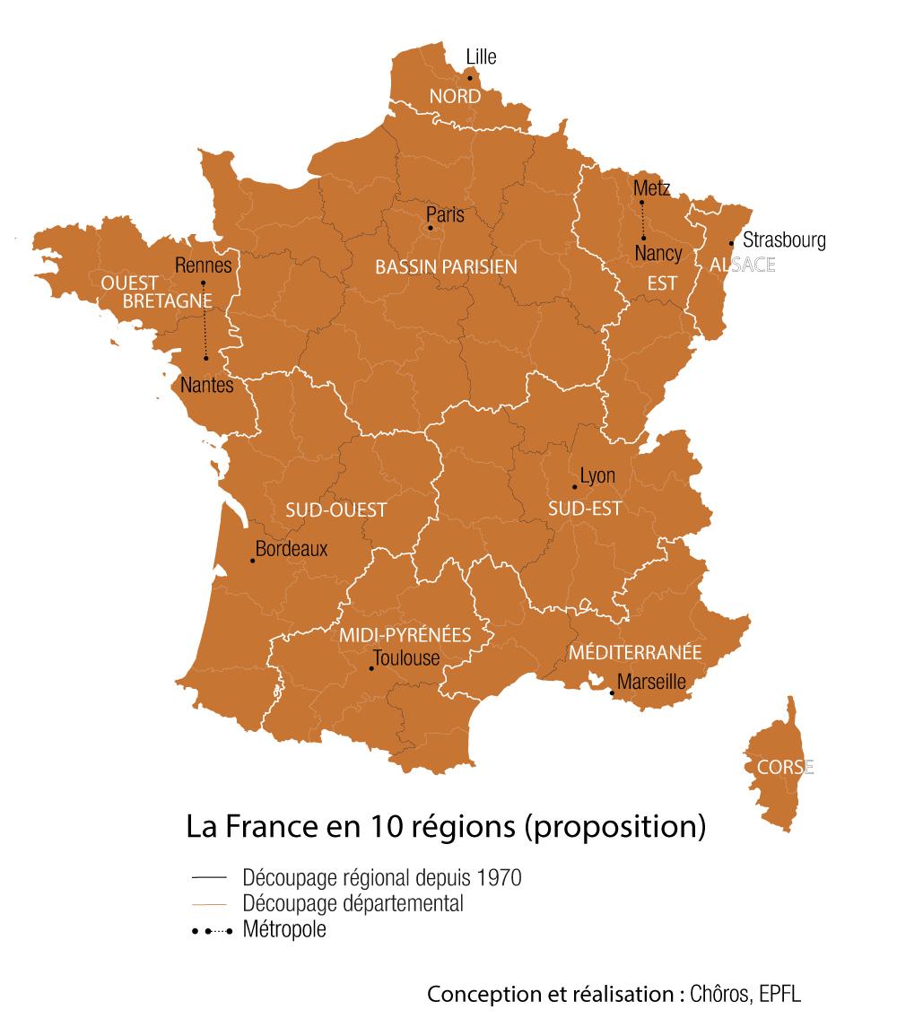 Pourquoi Votre Région Doit (Peut-Être) Disparaître | Slate.fr dedans Les Nouvelles Régions De France Et Leurs Départements