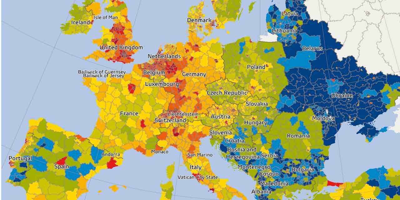 Pouvoir D'achat : Qui Est Le Mieux Loti En Europe ? serapportantà Carte De L Europe Capitales