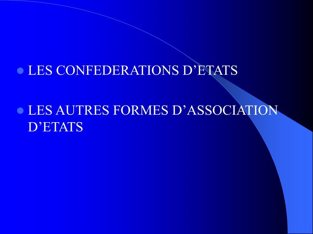 Ppt - Chapitre Ii Les Formes D'organisation De L'etat concernant Association De Formes