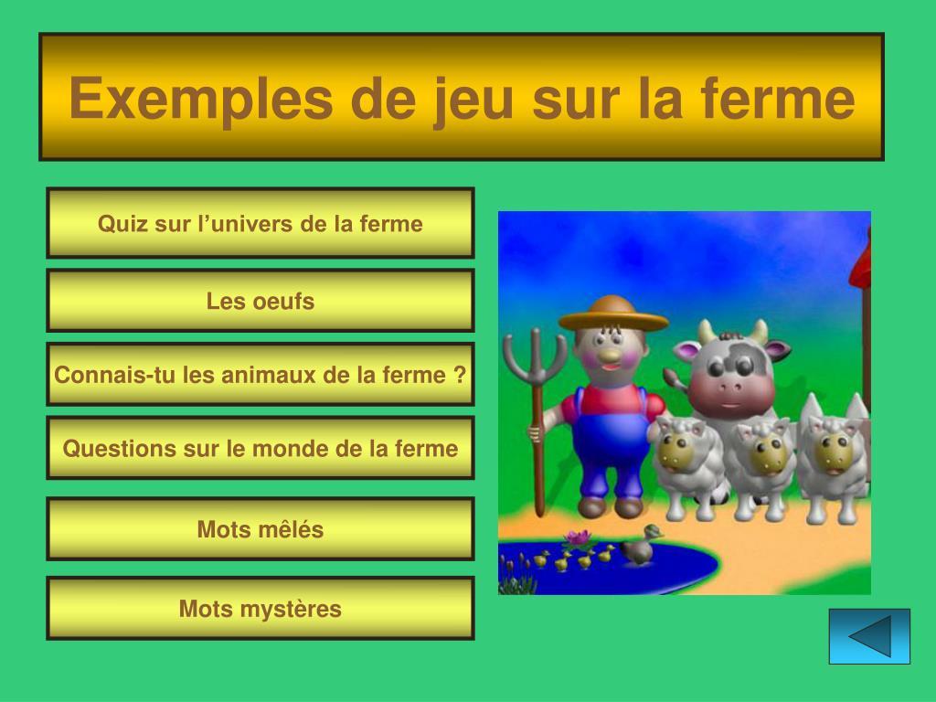 Ppt - Et Les Animaux De La Ferme Powerpoint Presentation concernant Jeux Les Animaux De La Ferme