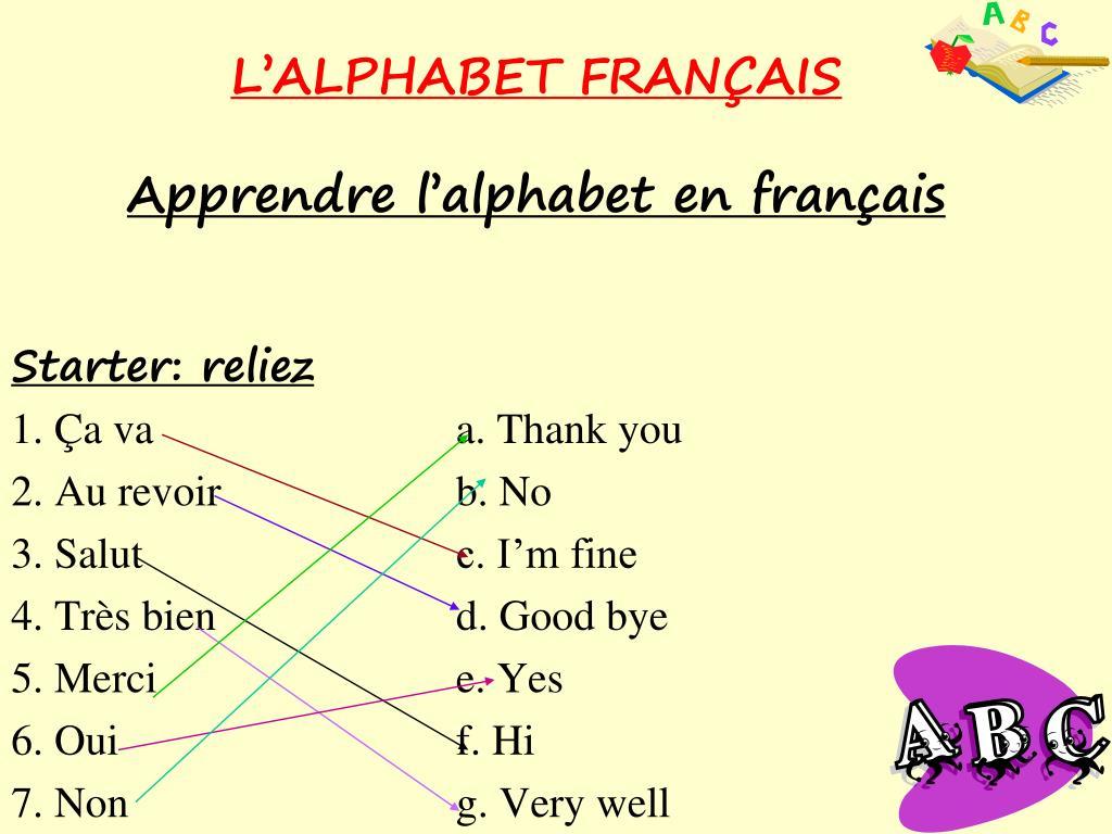 Ppt - L'alphabet Fran Ç Ais Apprendre L'alphabet En Français tout Apprendre Alphabet Francais