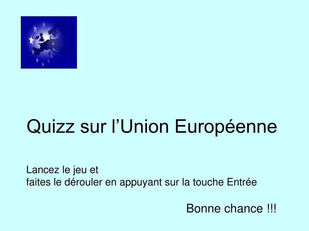 Ppt - Quizz Sur L'union Européenne Powerpoint Presentation avec Quizz Pour Maternelle
