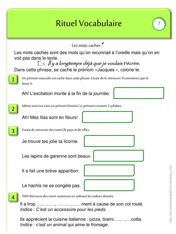 Ppt - Rituel Vocabulaire Powerpoint Presentation, Free avec Dictionnaire Des Mots Croisés Gator