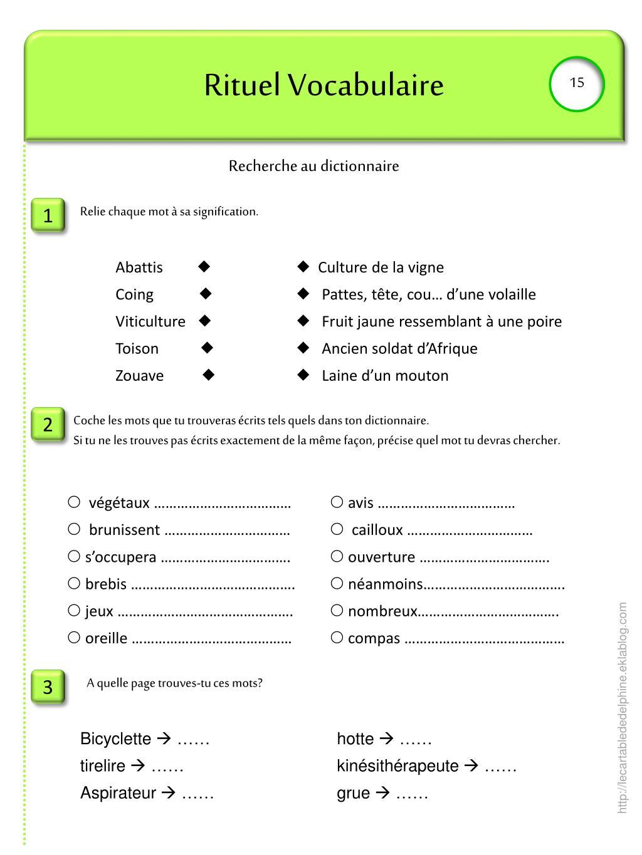 Ppt - Rituel Vocabulaire Powerpoint Presentation, Free serapportantà Dictionnaire Des Mots Croisés Gator