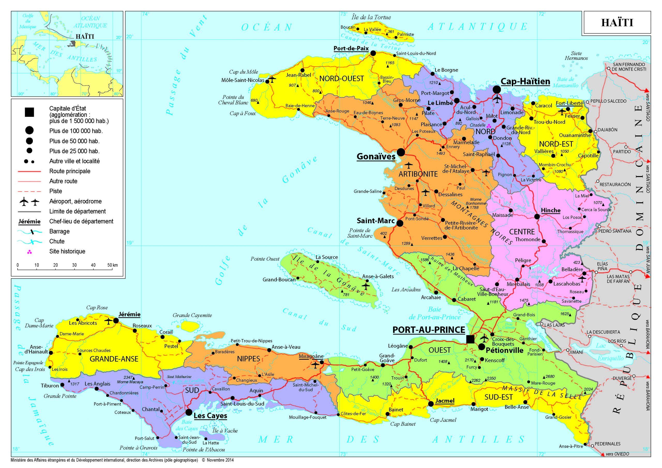 Présentation De Haïti - Ministère De L'europe Et Des à Carte De L Europe Avec Pays