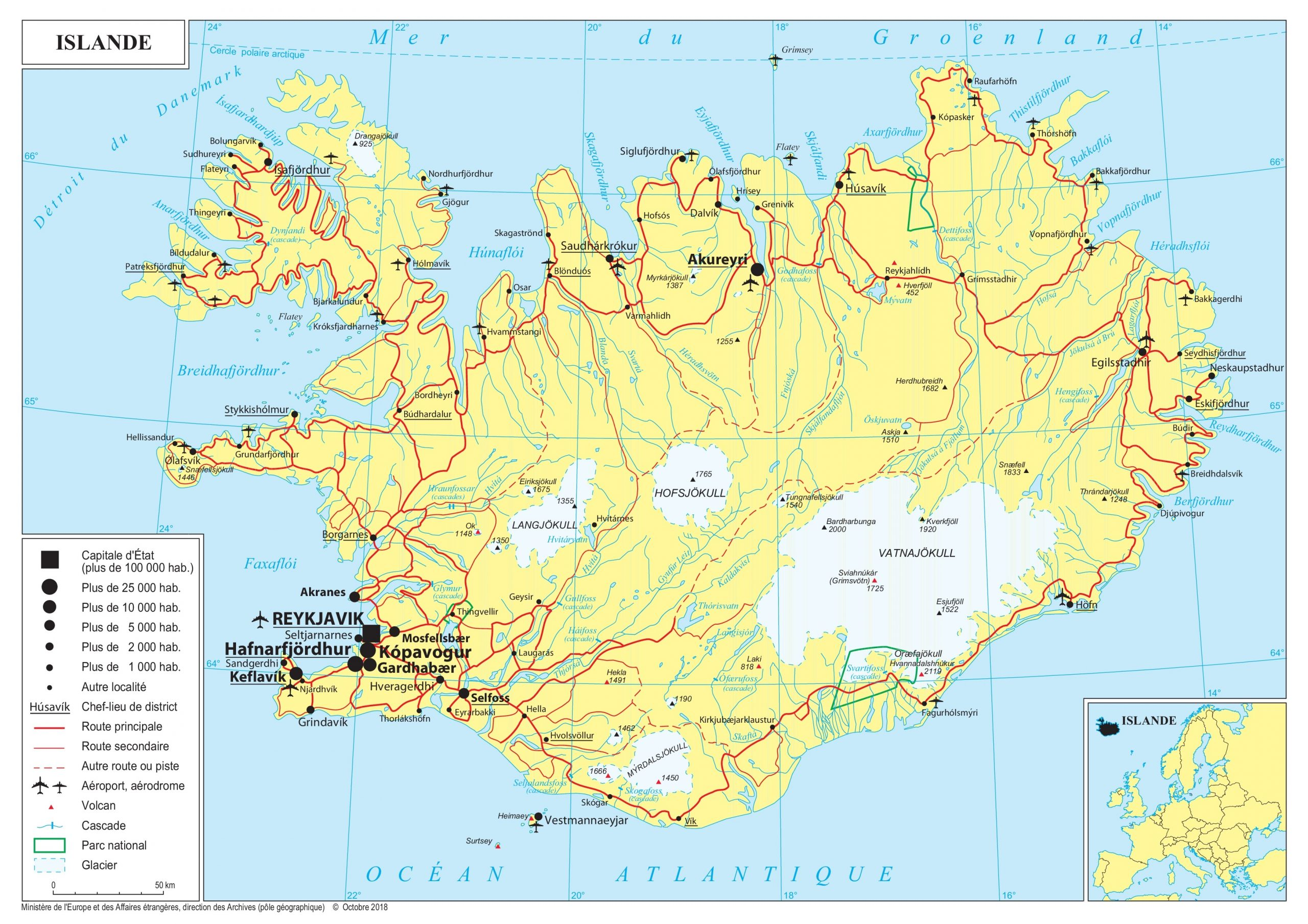 Présentation De L'islande - Ministère De L'europe Et Des destiné Carte Europe Pays Et Capitale