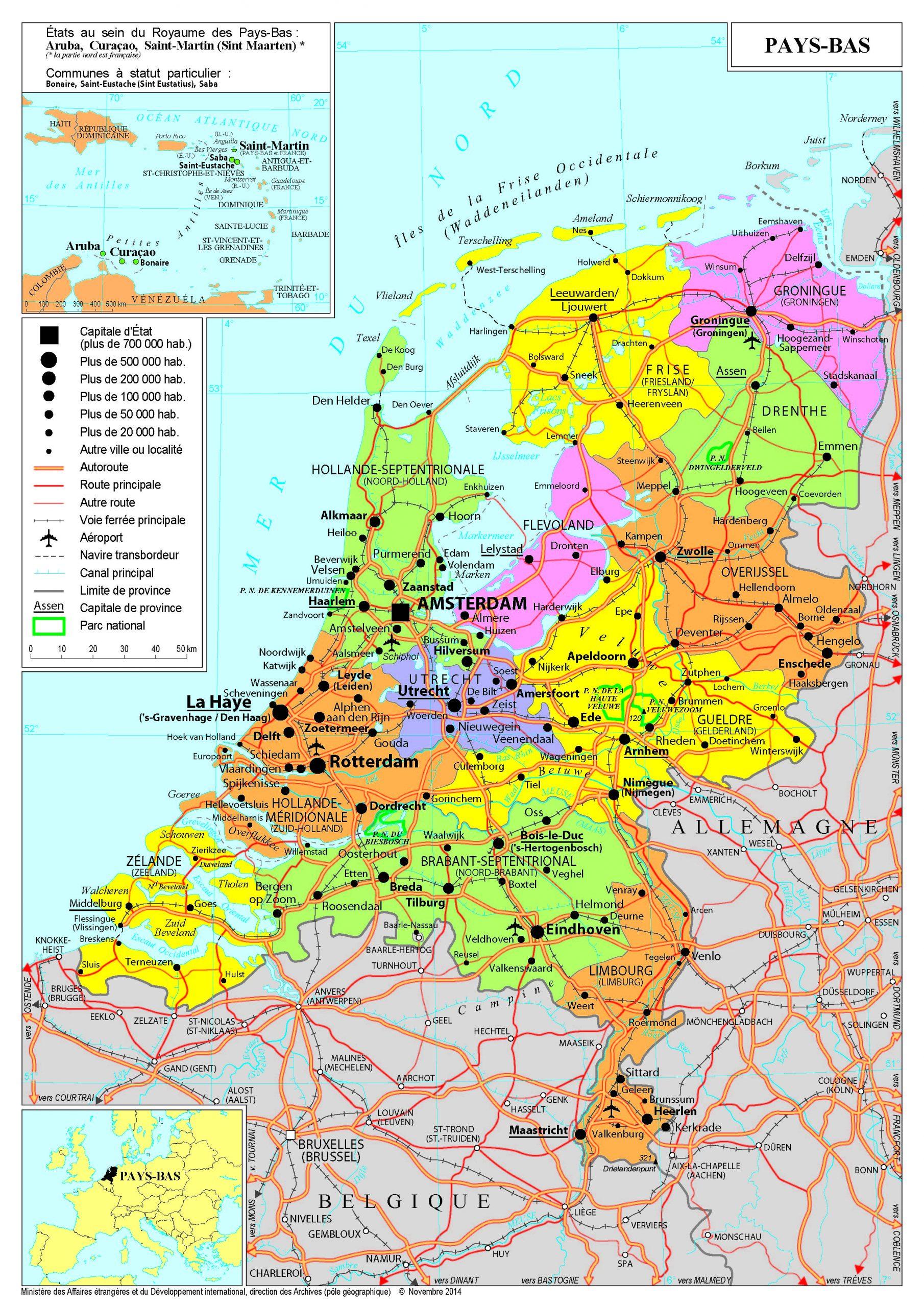 Présentation Des Pays-Bas - Ministère De L'europe Et Des intérieur Les Capitales De L Union Européenne