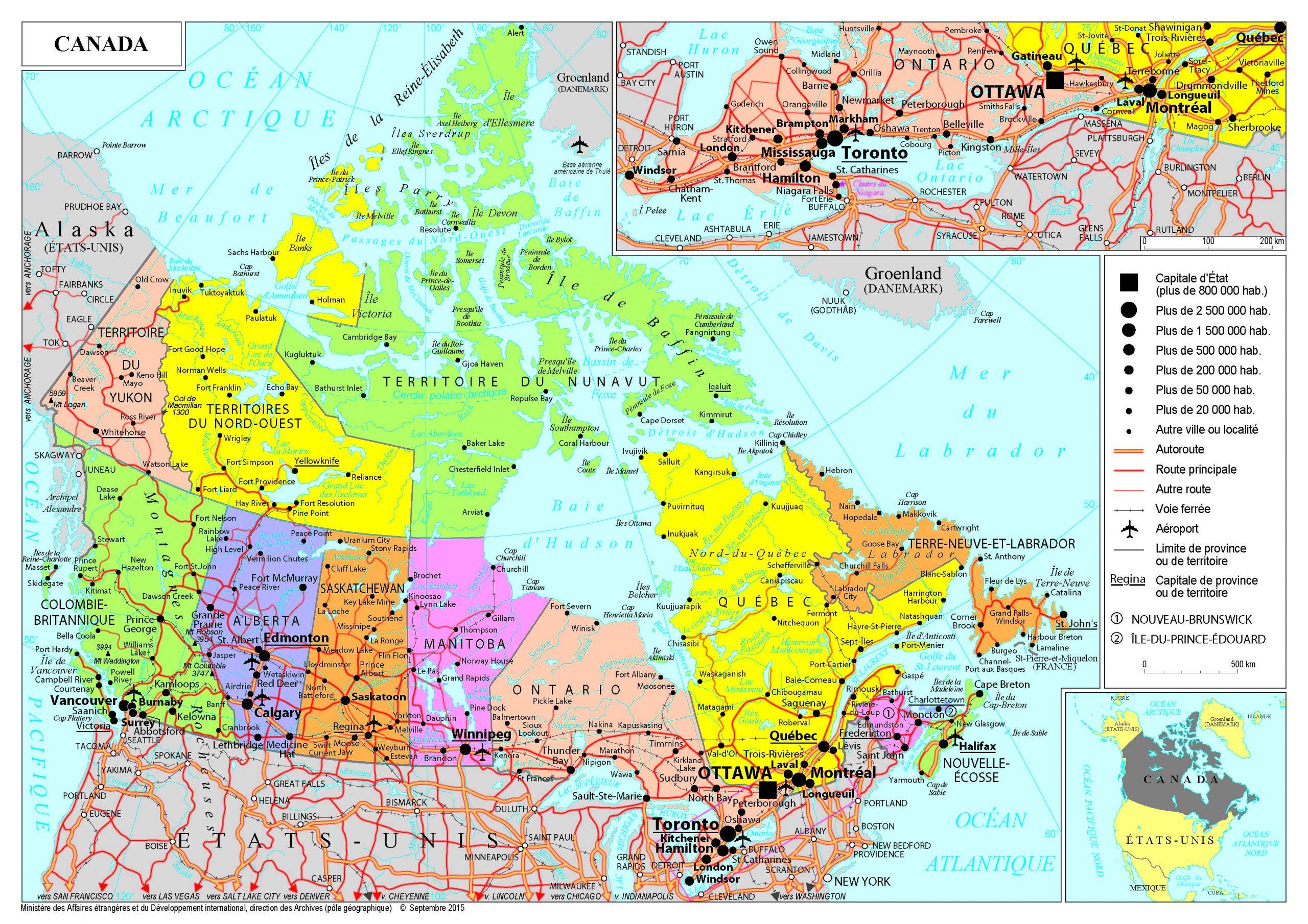 Présentation Du Canada - Ministère De L'europe Et Des avec Carte Europe Sans Nom Des Pays
