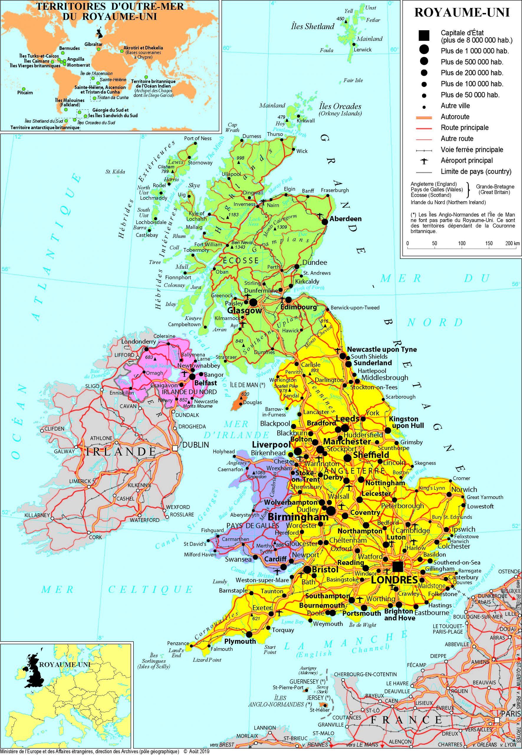 Présentation Du Royaume-Uni - Ministère De L'europe Et Des tout Carte Europe Sans Nom Des Pays