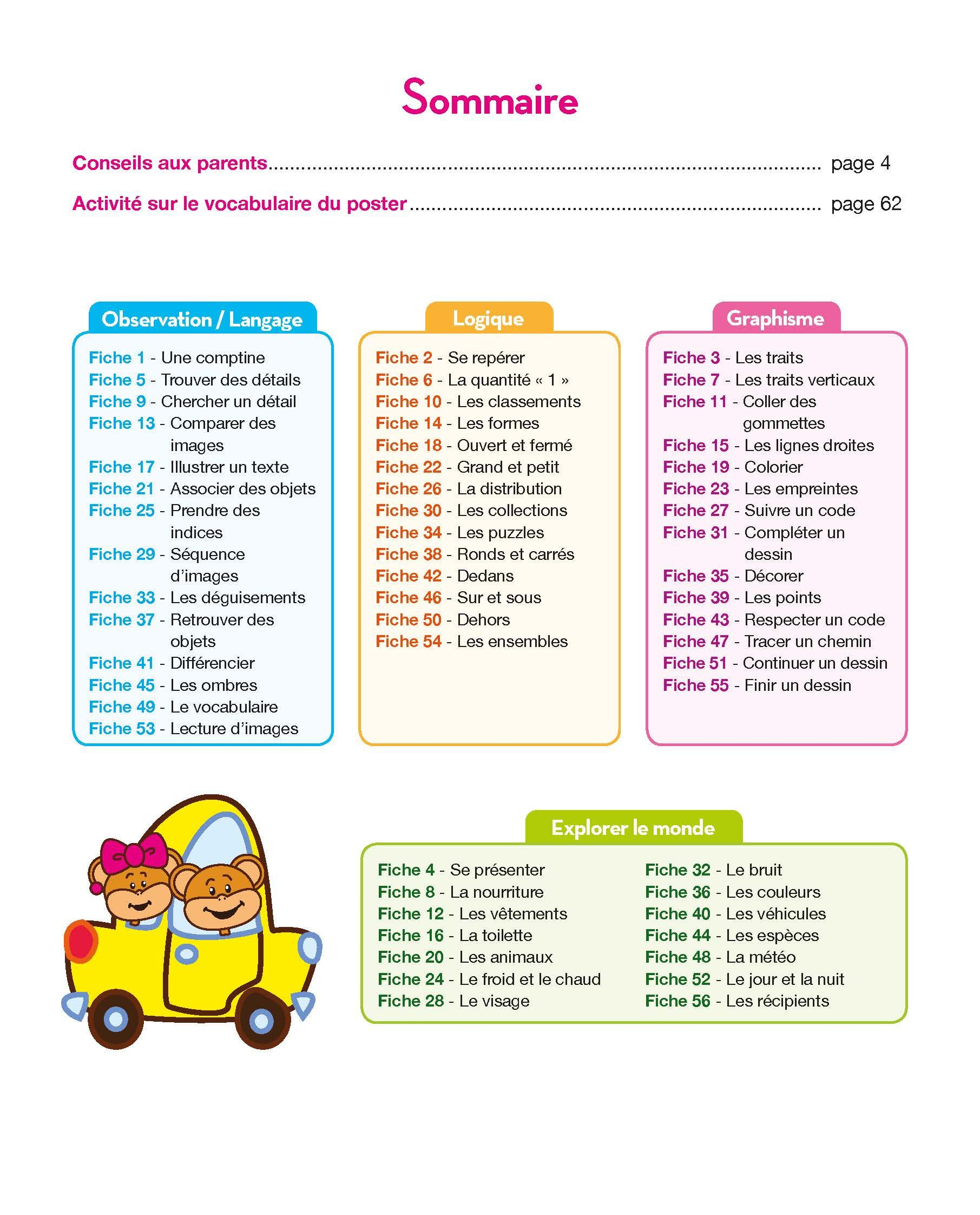 Présentation Du Sommaire : Toute Ma Maternelle Tout Le intérieur Programme Grande Section Maternelle Gratuit