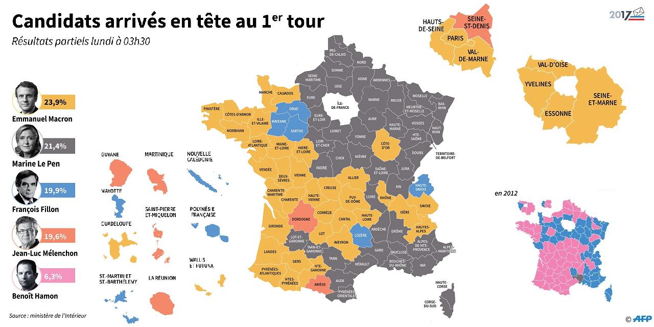 Présidentielle : Les 8 Cartes À Voir Pour Comprendre Le intérieur Carte Des Départements De France 2017