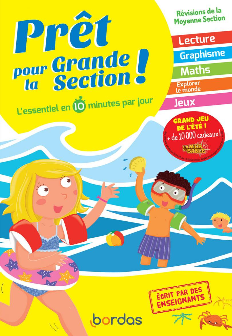 Prêt Pour La Grande Section - Cahiers De Vacances, Révisions à Activités Moyenne Section Maternelle À Imprimer