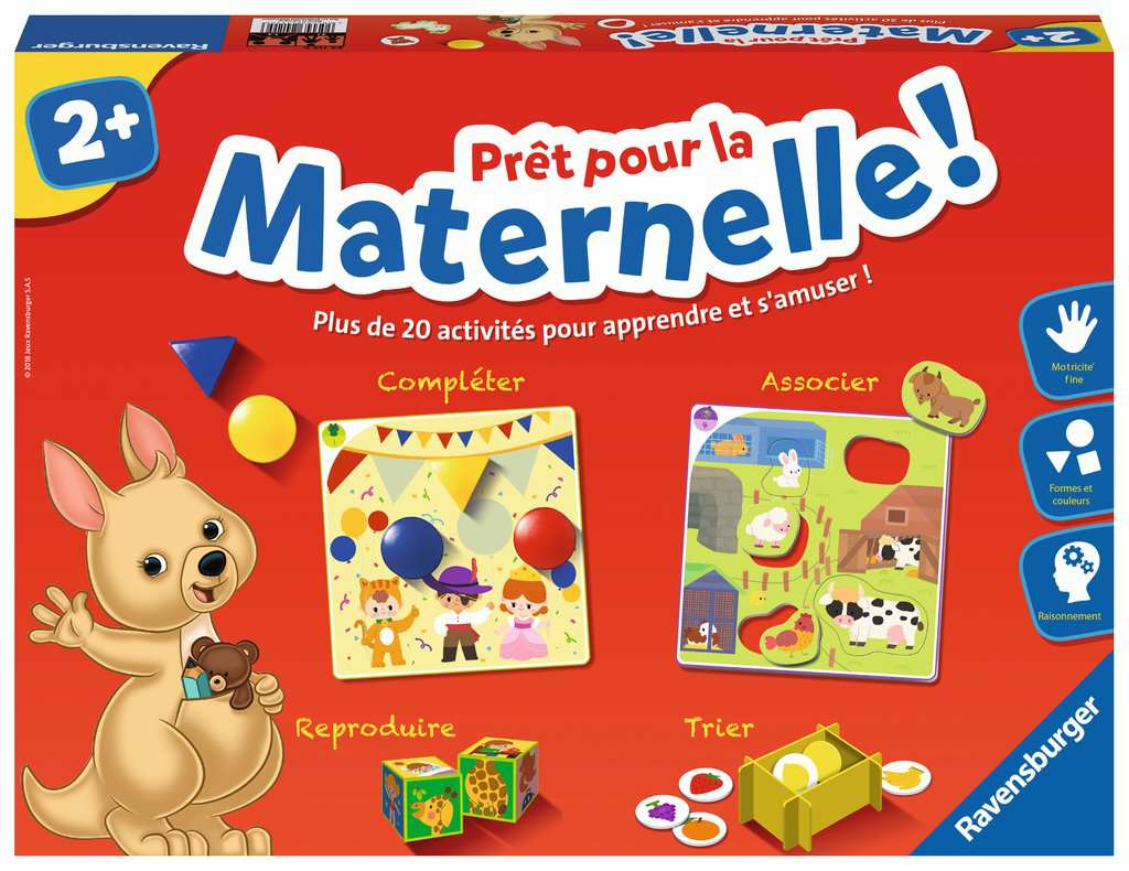 Prêt Pour La Maternelle ! encequiconcerne Jeux Educatif 9 Ans