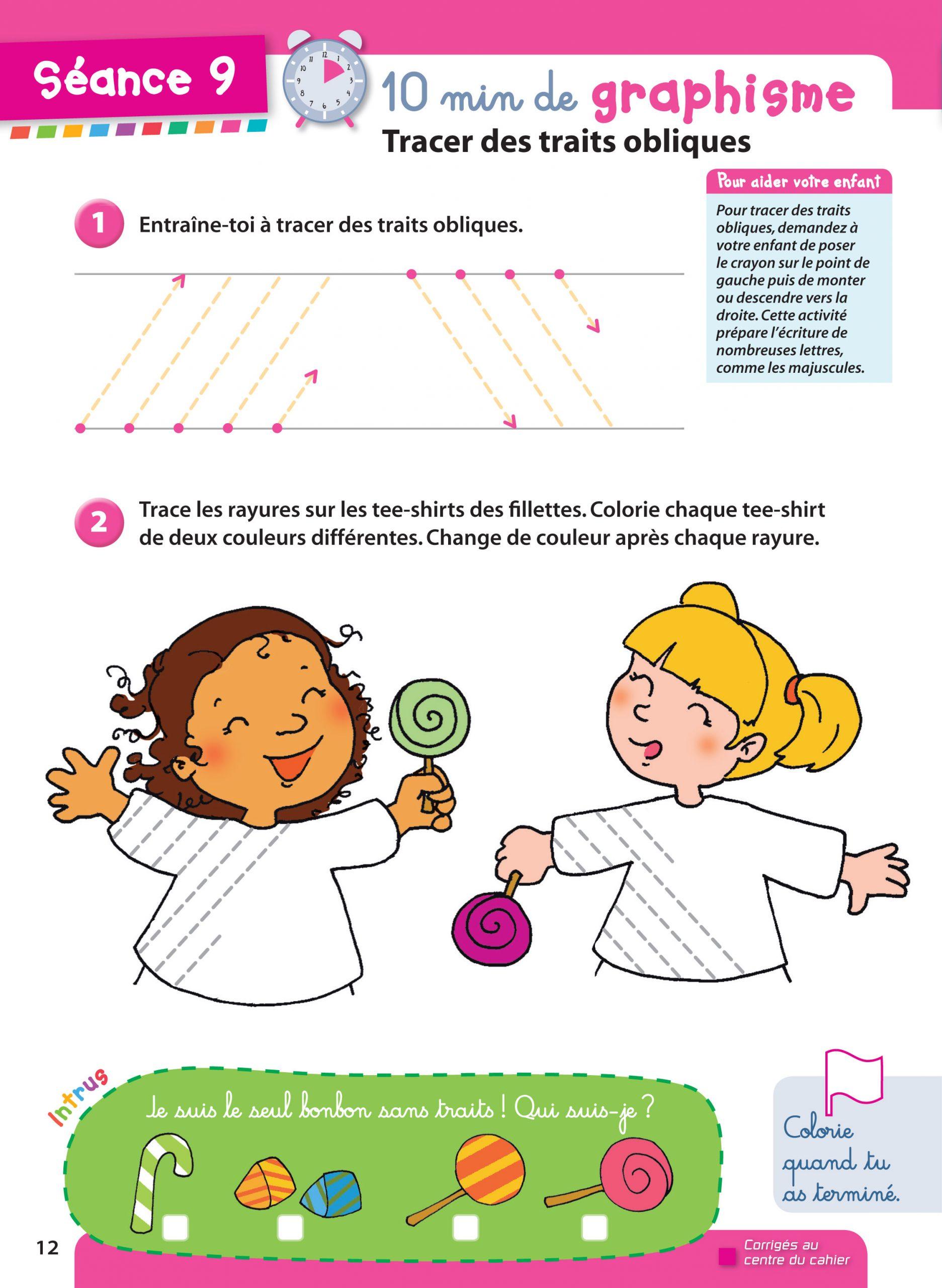 Prêt Pour La Moyenne Section ! Cahier De Vacances De La à Graphisme En Petite Section