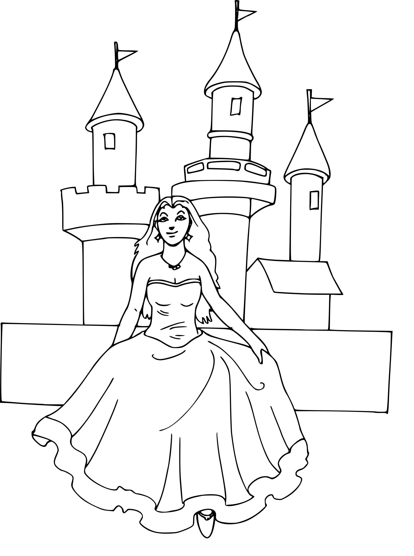 Princesse Devant Le Chteau. Voir Le Dessin. Chateau De Reve pour Chateau De Princesse Dessin