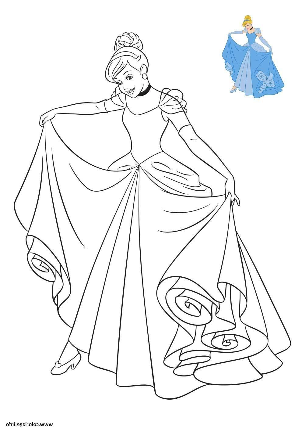 Princesse Disney Cendrillon Coloriage Dessin En 2020 avec Cendrillon À Colorier