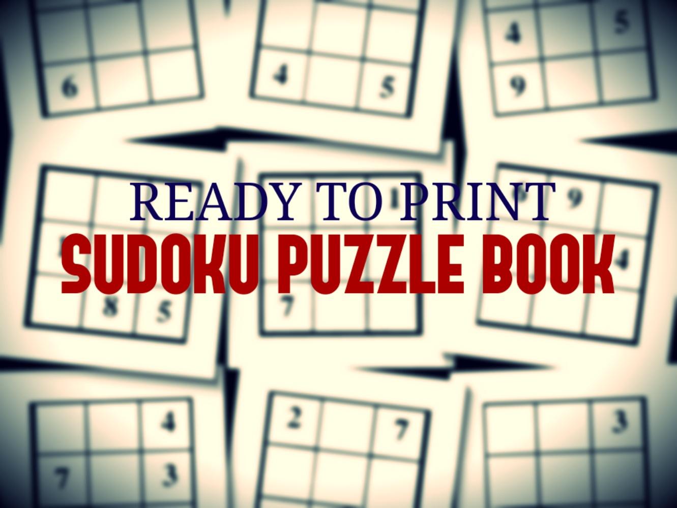 Print Ready Sudoku Puzzle Book Vol 143 pour Sudoku A Imprimer