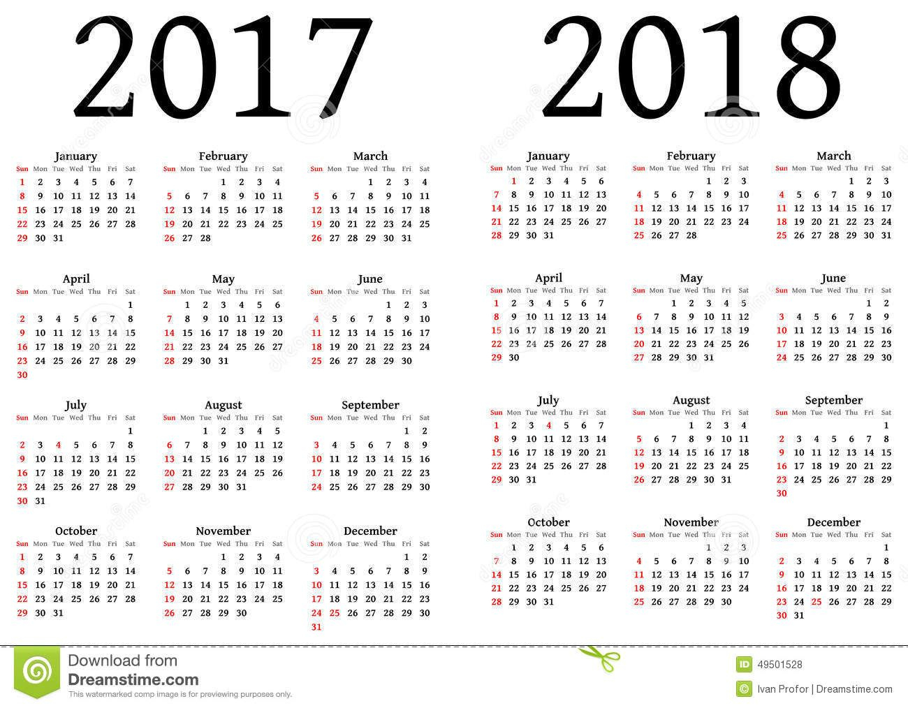 Printable Calendar 2017 And 2018 | Calendrier 2015 Annuel avec Calendrier Annuel 2018 À Imprimer