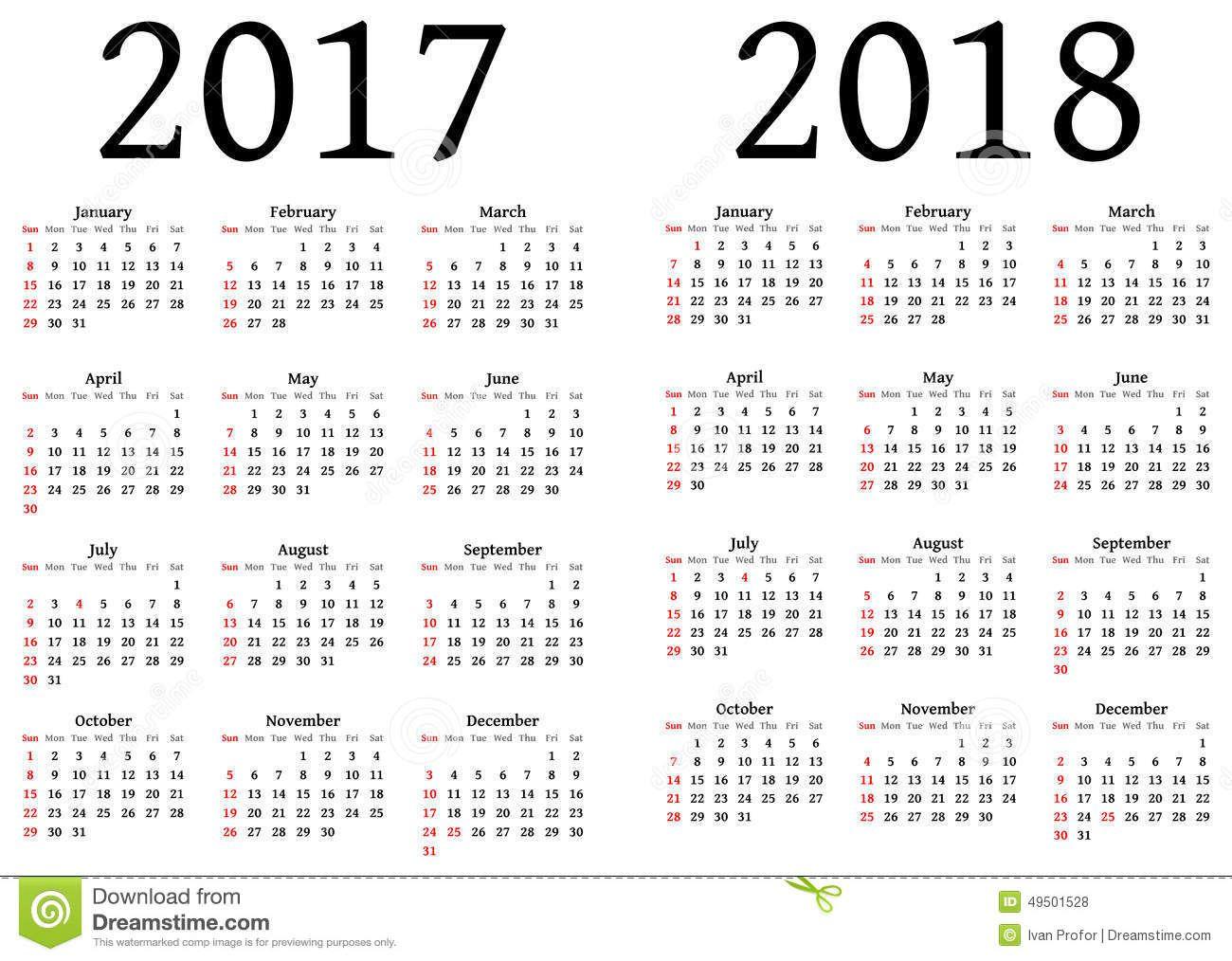Printable Calendar 2017 And 2018 | Calendrier 2015 Annuel tout Calendrier Annuel 2018 À Imprimer Gratuit