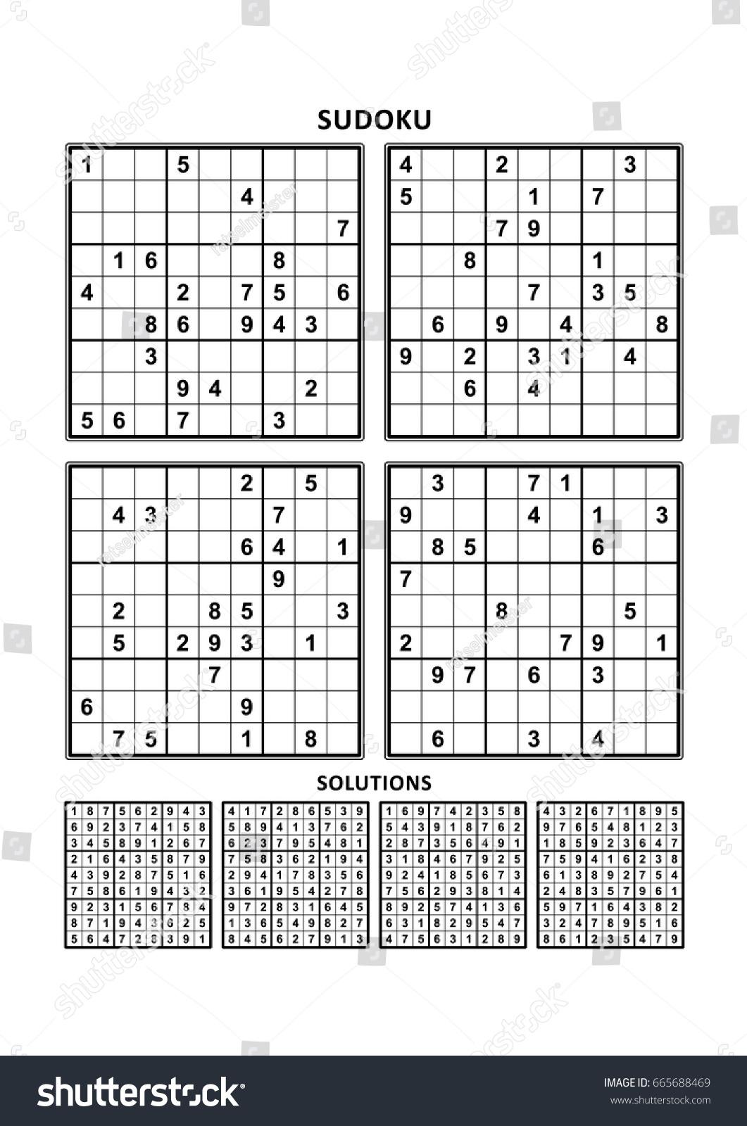 Printable Sudoku Worksheet | Printable Worksheets And avec Sudoku A Imprimer