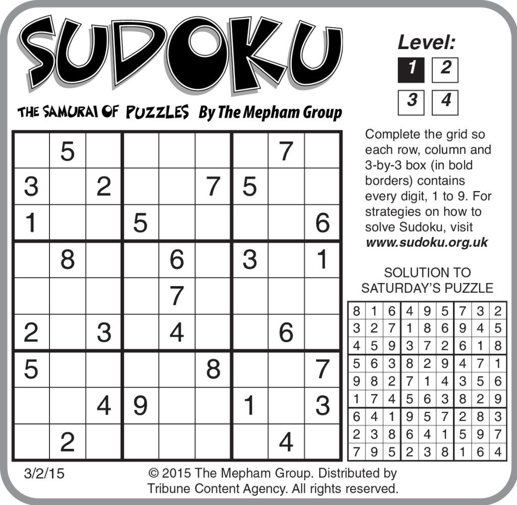 Printable Sudoku Worksheet | Printable Worksheets And tout Sudoku A Imprimer