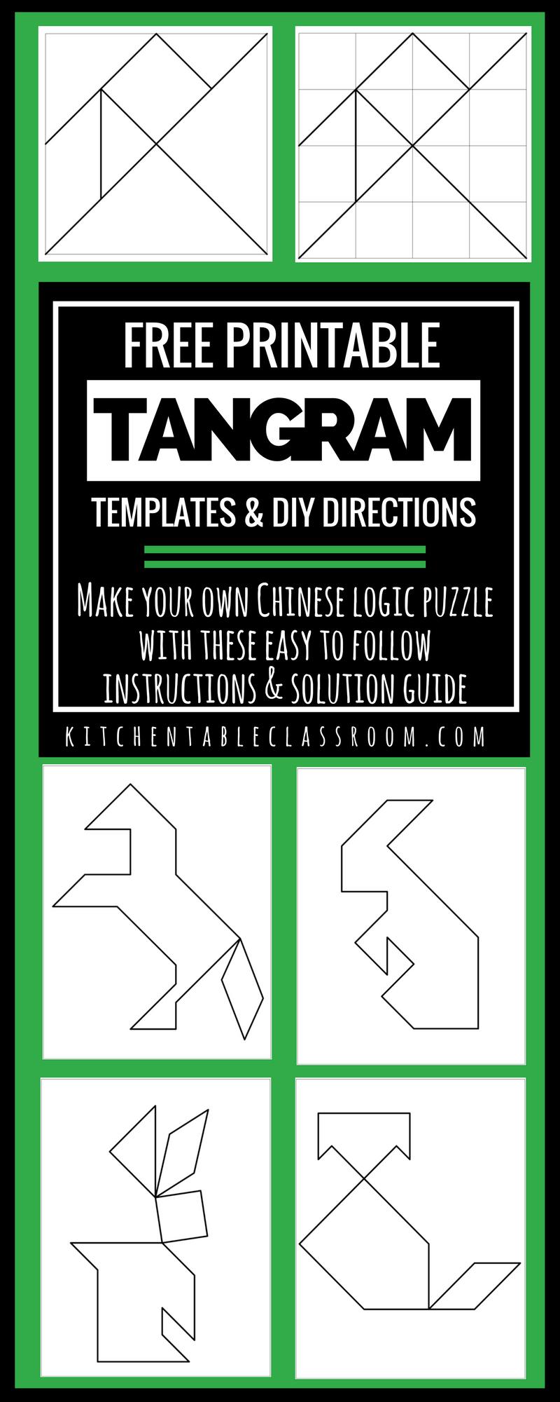 Printable Tangrams - An Easy Diy Tangram Template concernant Tangram Modèles Et Solutions