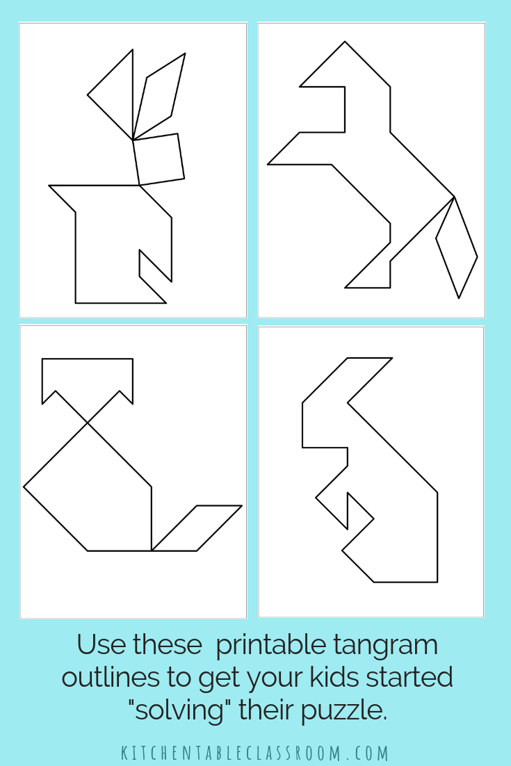 Printable Tangrams - An Easy Diy Tangram Template | Tangram dedans Tangram Simple