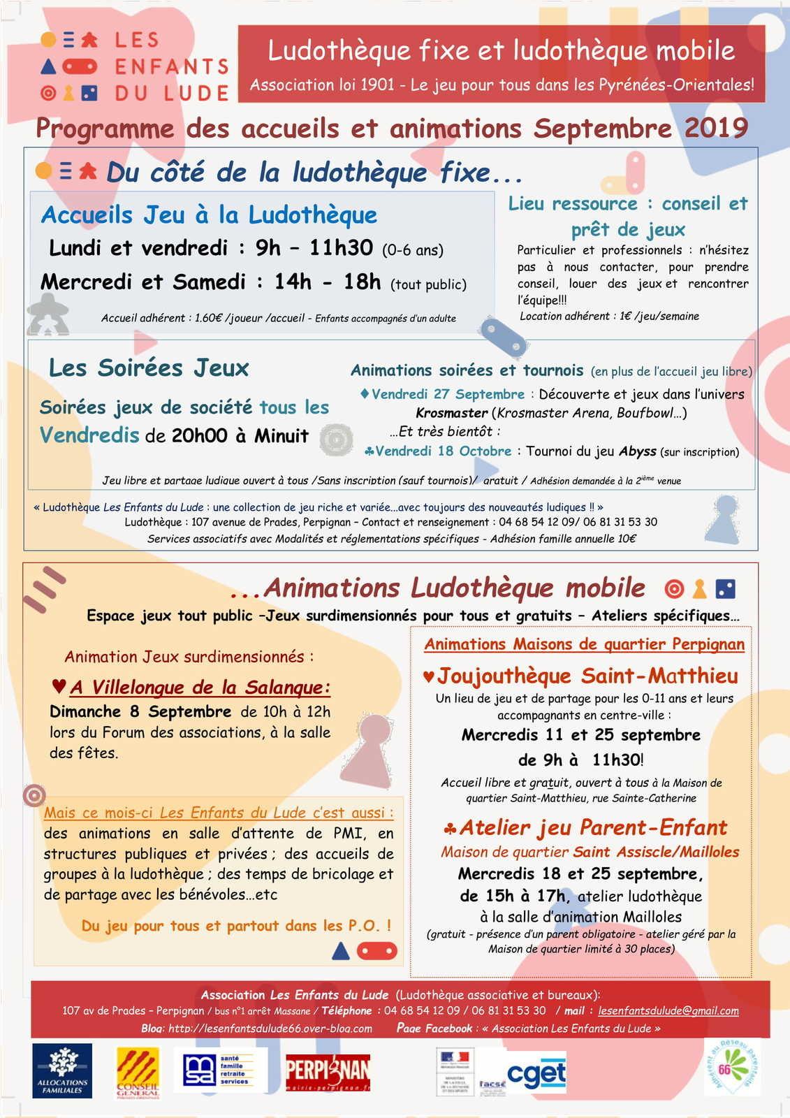 Programme Ludique De Septembre Avec Les Enfants Du Lude intérieur Jeux Ludique Pour Enfant