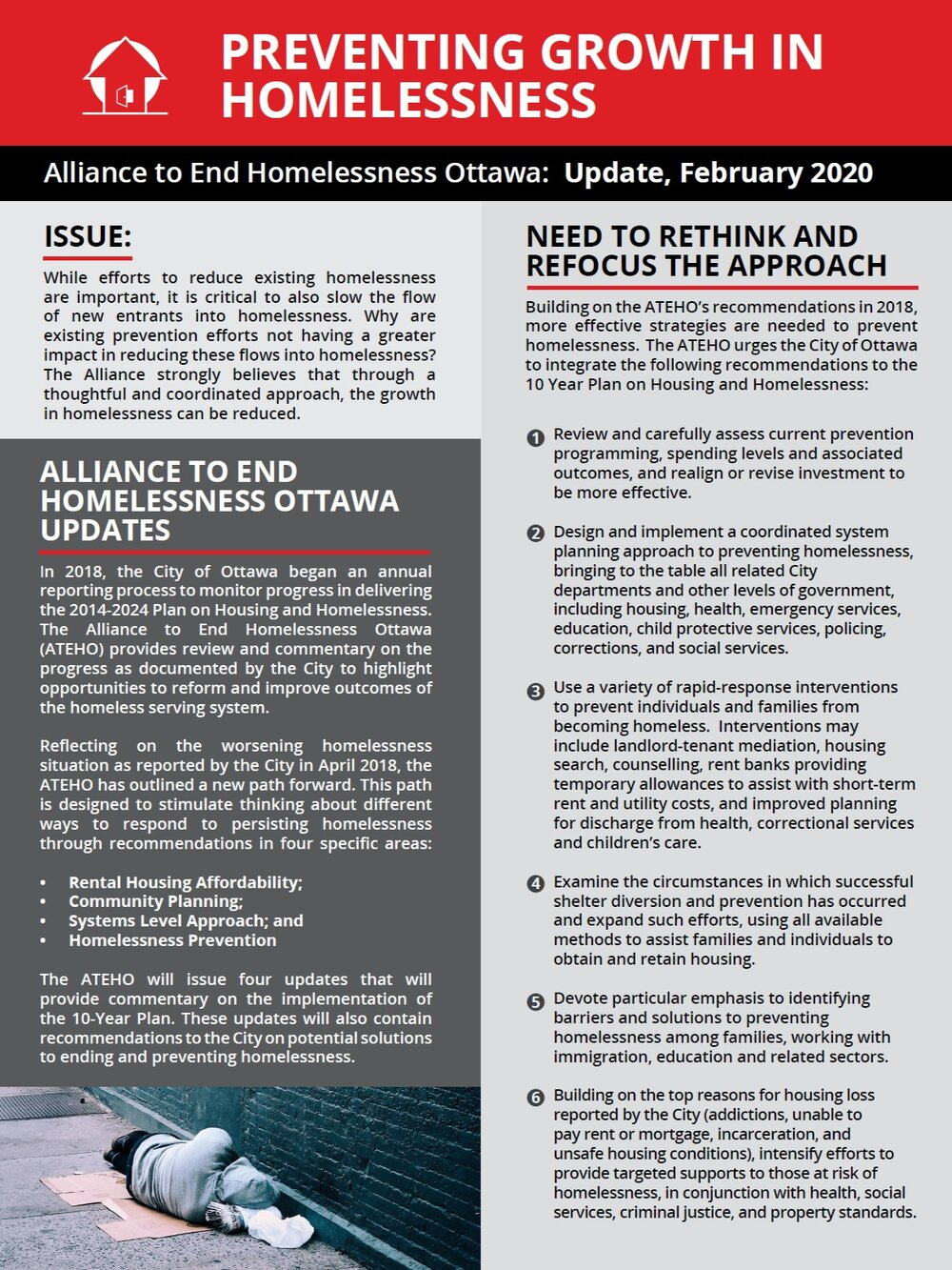 Progress Report — Alliance To End Homelessness Ottawa intérieur Planning Annuel 2018