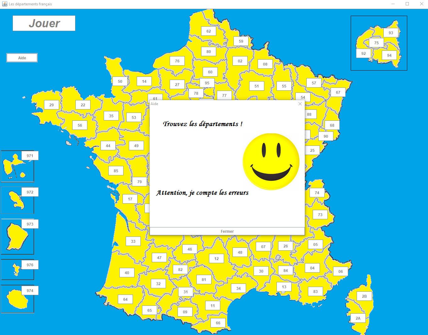 Projet pour Jeux Des Départements Français