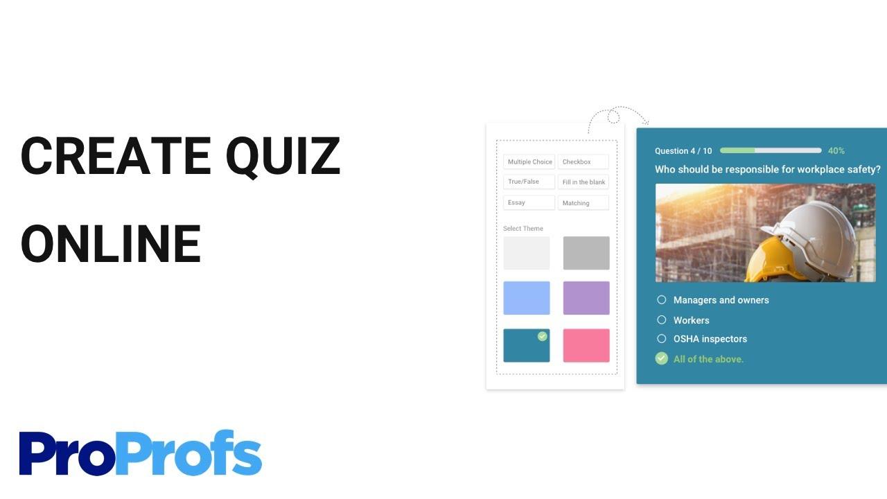 Proprofs Quiz Maker - Avis, Prix, Tarif Et Abonnement - Capterra à Quiz En Ligne Gratuit