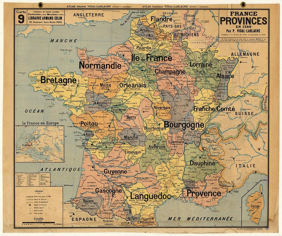 Provinces Of France - Wikipedia intérieur Carte De France Avec Region