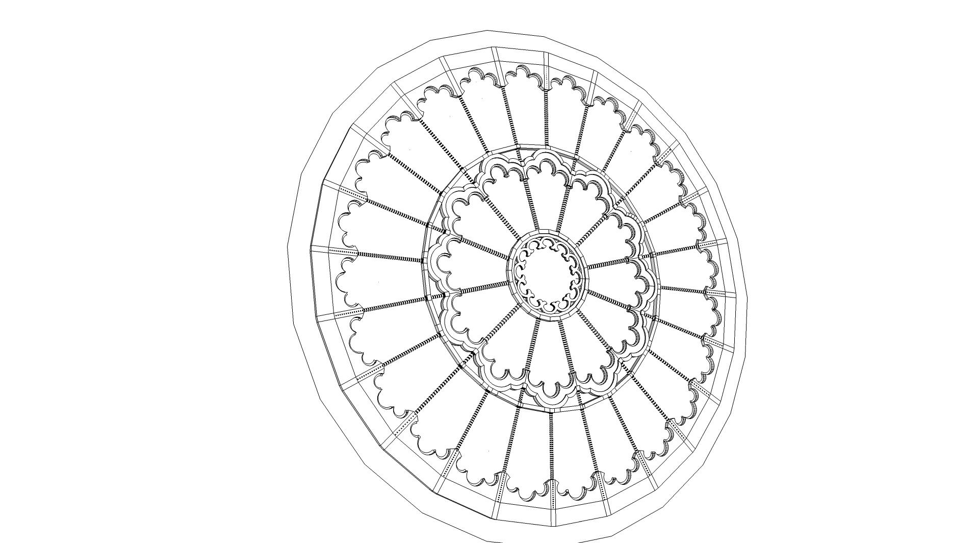 Puis La Rosace - Notre Dame De Paris En 3D destiné Dessiner Une Rosace
