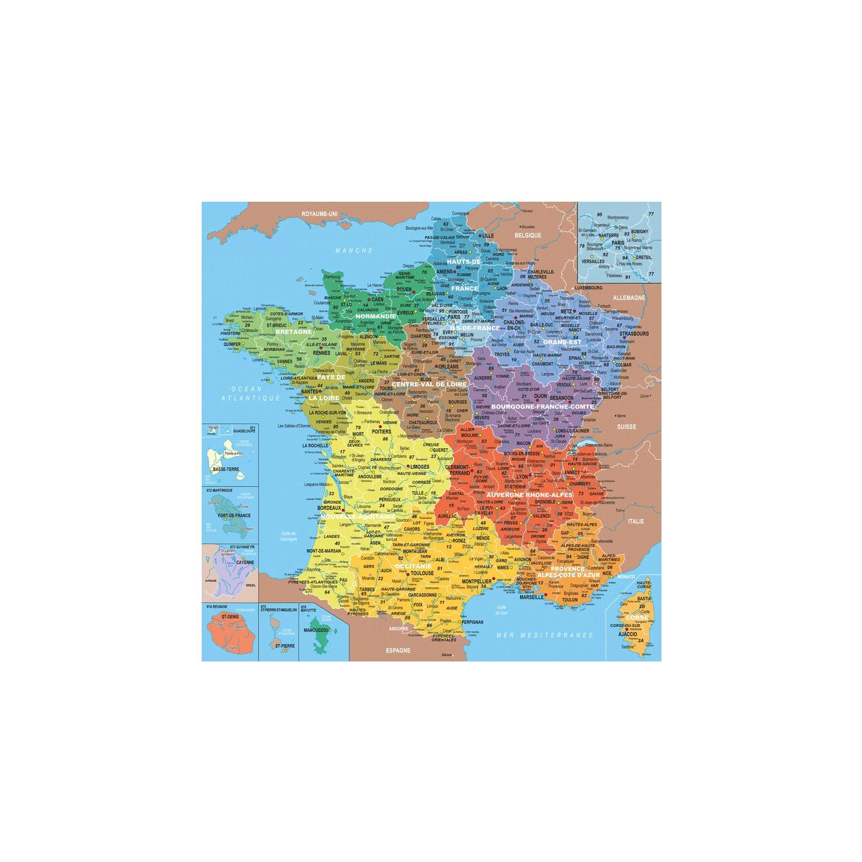 Puzzle 100 Pièces En Bois : Carte De France Des Départements pour Apprendre Les Départements En S Amusant