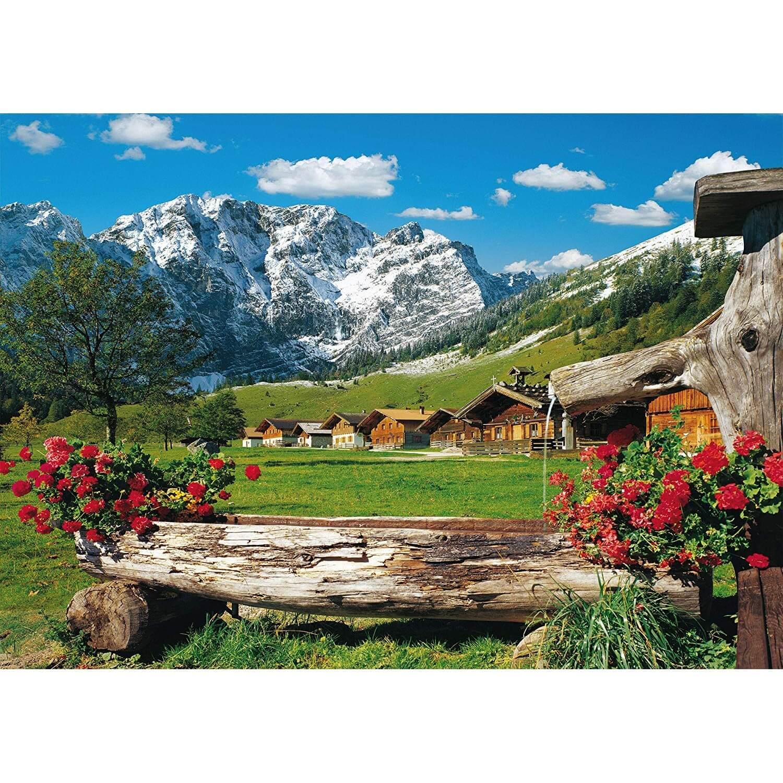 Puzzle 1000 Pièces : Paysage De Montagne Idyllique pour Puzzle Gratuit 3 Ans