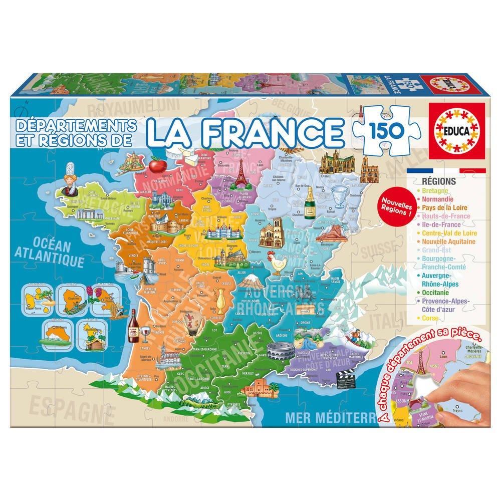 Puzzle 150 Départements Et Régions De La France serapportantà Puzzle Des Départements Français