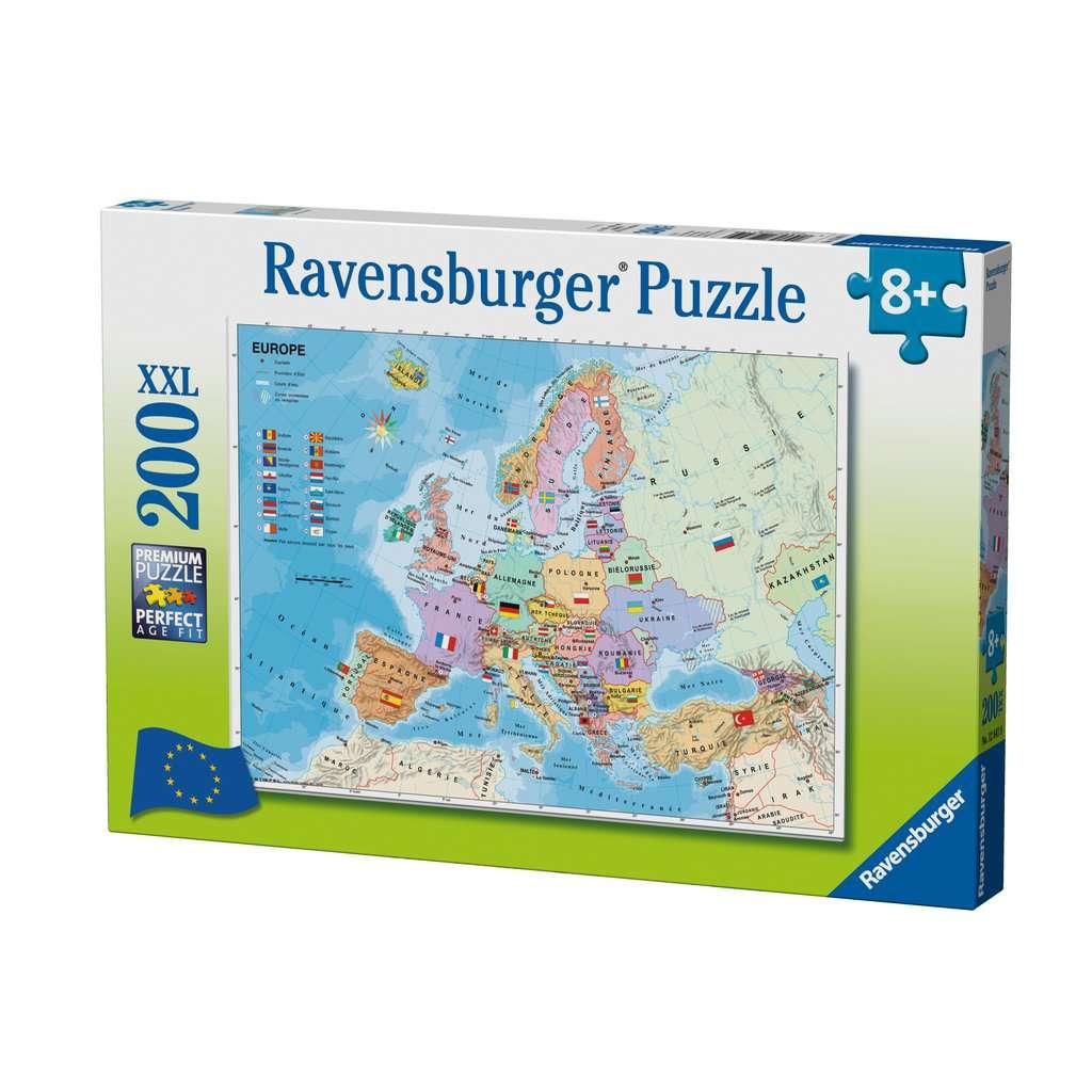 Puzzle 200 P Xxl - Carte D Europe intérieur Carte Europe Enfant