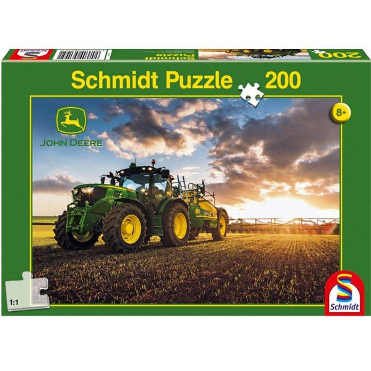 Puzzle 200 Pièces : John Deere : Tracteur 6150R Avec Tonne À pour Image Tracteur John Deere