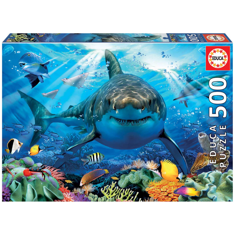 Puzzle 500 Pièces : Grand Requin Blanc à Jeux Gratuit Requin Blanc