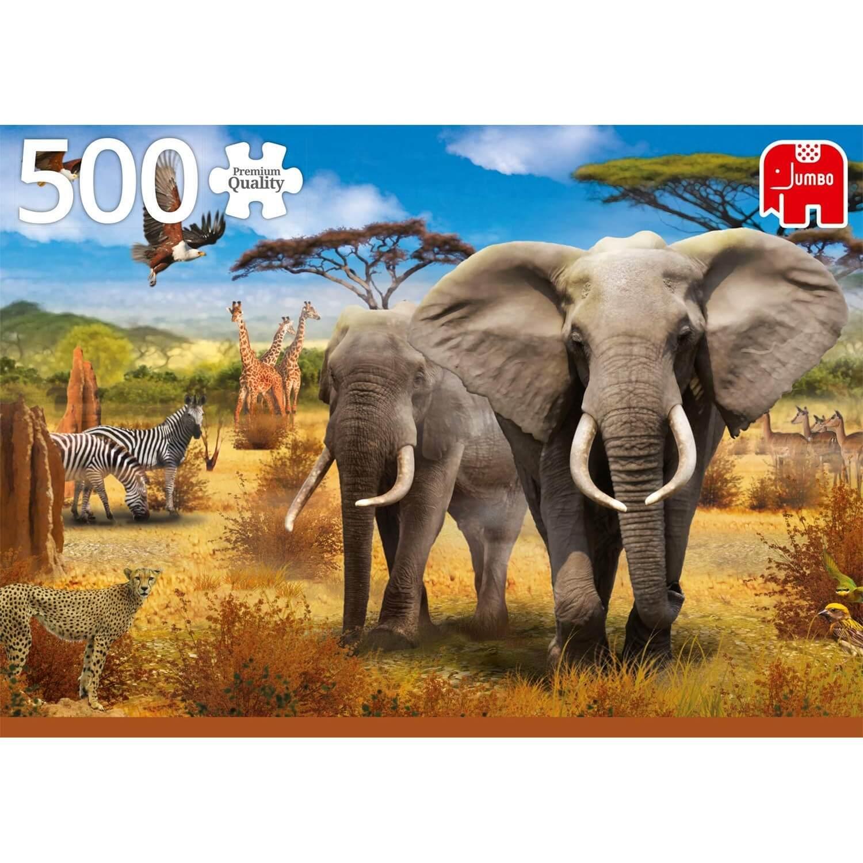 Puzzle 500 Pièces : Savane Africaine serapportantà Jeux De Savane