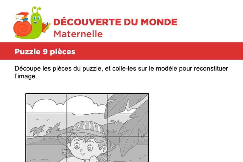 Puzzle 9 Pièces, Plage Et Châteaux De Sable concernant Puzzle En Ligne Maternelle