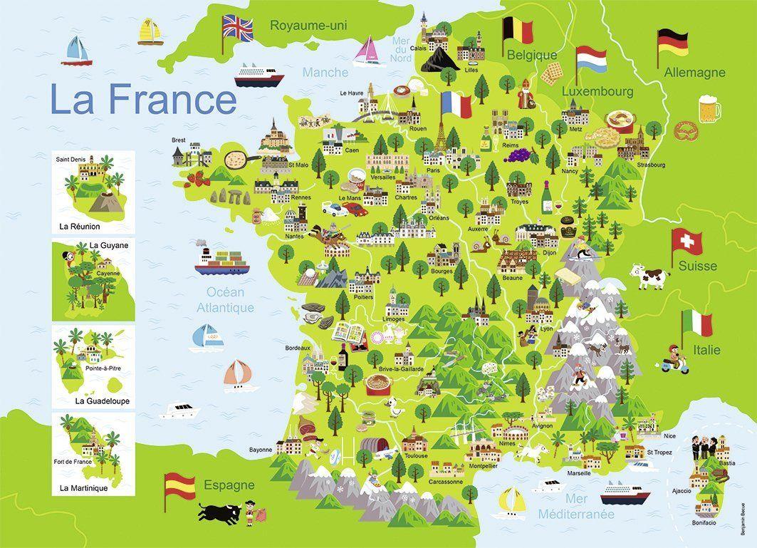 Puzzle De Carte De France | My Blog pour Carte De France Ludique