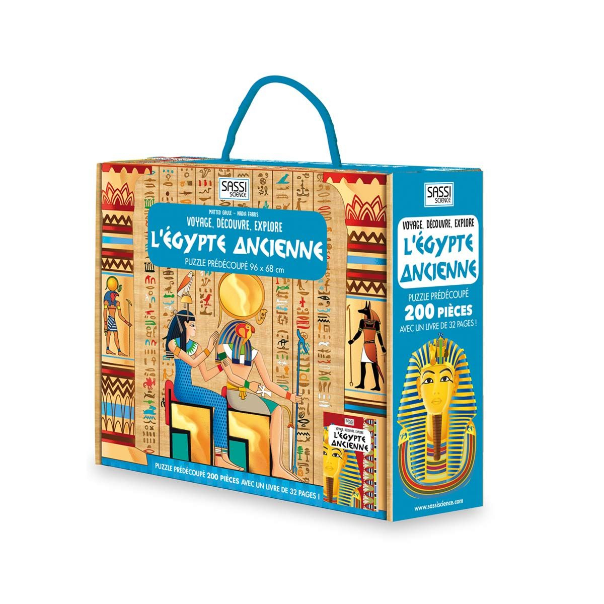 Puzzle Découverte De L'egypte Et Son Livret Sassi | Jeux avec Jeux Pour Enfant 7 Ans